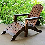 International Caravan VF-4105-IC Furniture Piece Outdoor Adirondack Chair with Footrest