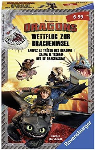 NEU Ravensburger 23399 DRAGONS Wettflug Zur Dracheninsel