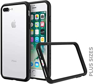 RhinoShield Bumper Compatible with [iPhone 8 Plus / 7 Plus] | CrashGuard NX - Shock Absorbent Slim Design Protective Cover [3.5M / 11ft Drop Protection] - Black