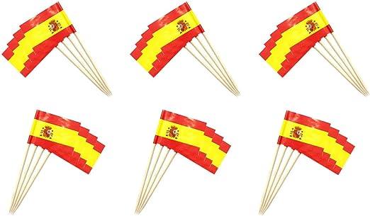 Compra Durabol Palillos de Cóctel con Bandera de España – Juego de 25PCS – Palillos descartables (25PCS) en Amazon.es
