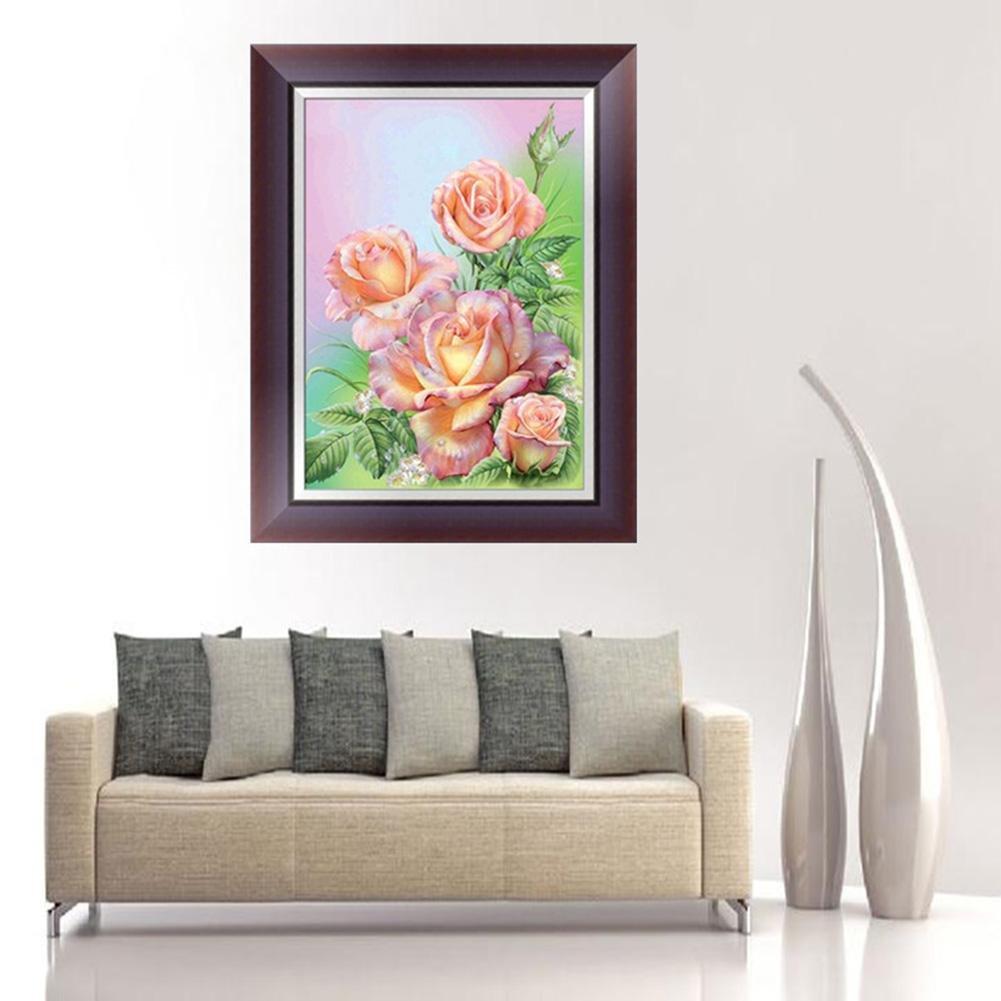 Amazon.com: Mikolot DIY 5D Diamond Embroidery Pink Rose ...