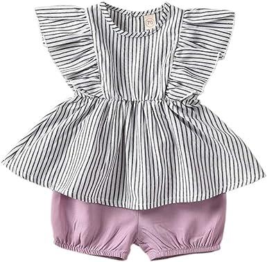 NEW Baby Girls Boys Black white striped linen Shorts Bloomers Romper set Gift