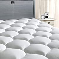 "MASVIS Mattress Pad Cover 8-21""Deep Pocket - Cooling Mattress Topper Overfilled 300TC Snow Down Alternative"