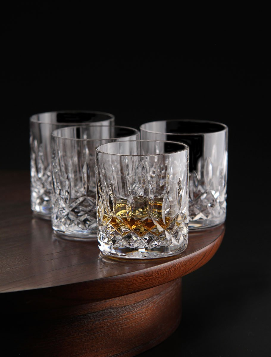 Le'raze Posh Crystal Collection Double Old Fashioned Glasses, Perfect for serving scotch, whiskey or mixed drinks (Set of 6-11Oz DOF Glasses) by Le'raze