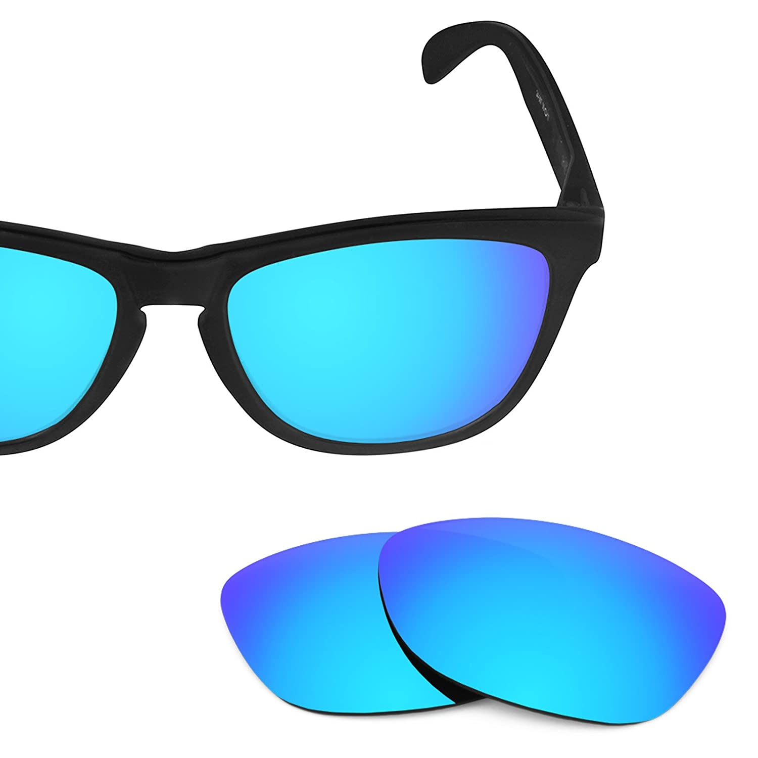 c99986d325 Ice Blue Mirrorshield® - Polarized   Revant Replacement Lenses for Oakley  Frogskins  Amazon.in  Sports