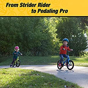 Strider 14 X 2-in-1 Balance to Pedal Bike, Awesome Blue