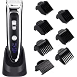YOHOOLYO SURKER Hair Clippers For Men Hair Trimmer LED Display Haircut Kit Ceramic Blade Rechargeable