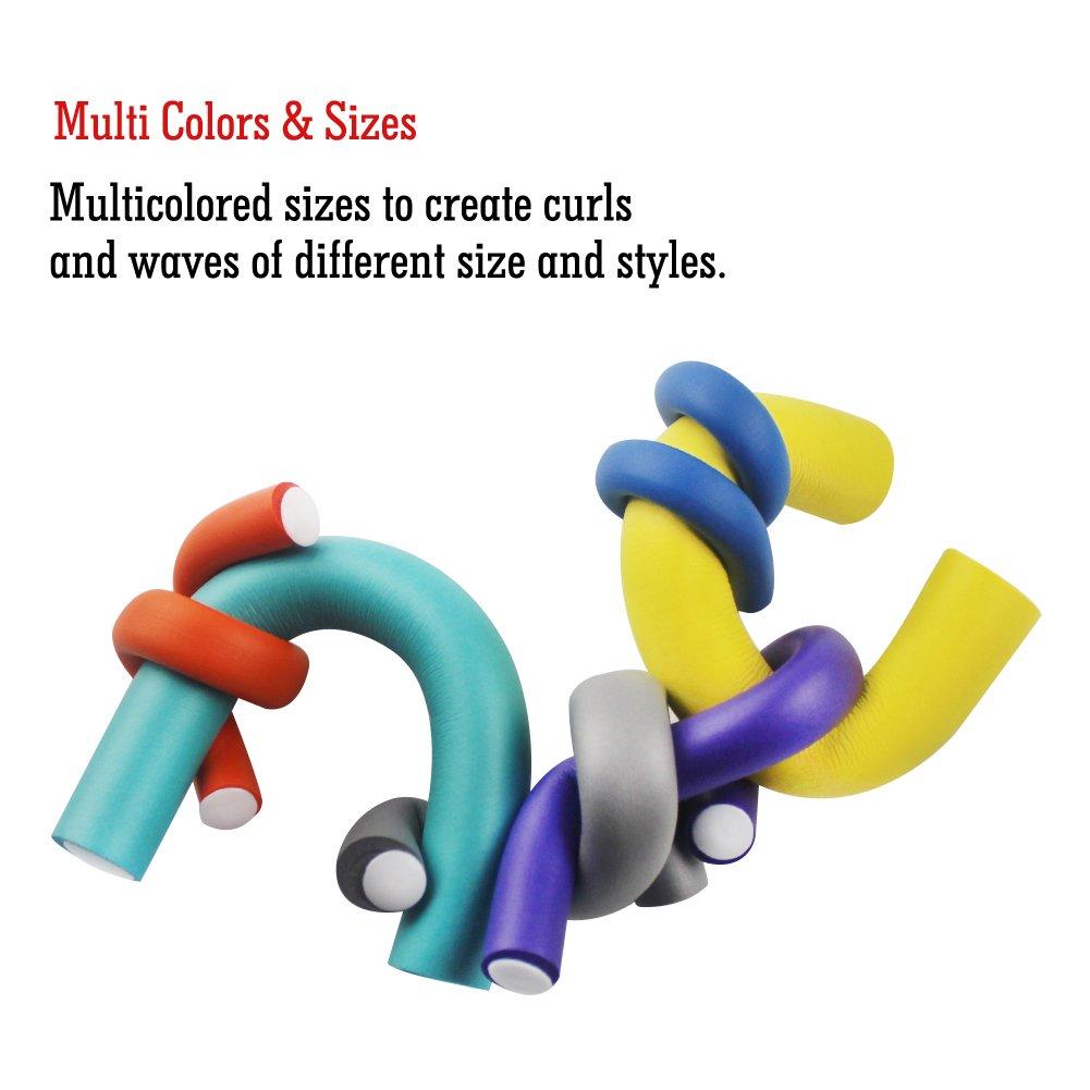 ASkliy 42Pcs Flexibles Rulos para el pelo Rizador Bigudíes DIY Círculo espiral Hair Curler Roller: Amazon.es: Belleza