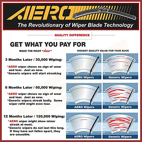 """OEM 26"""" 20"""" AERO Windshield Blades"""