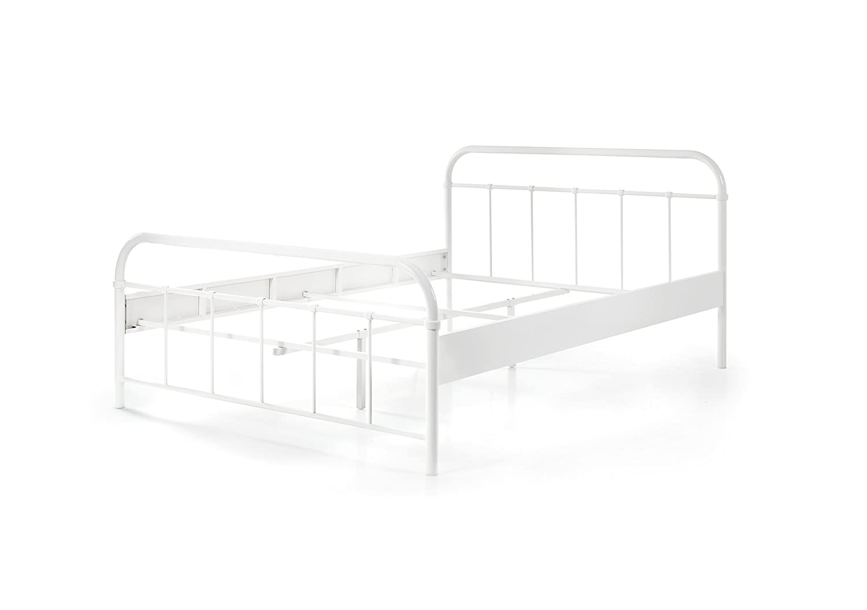 Vipack Metallbett, Jugendbett, Einzelbett, Metall, weiß, 209 x 148 x 66 cm