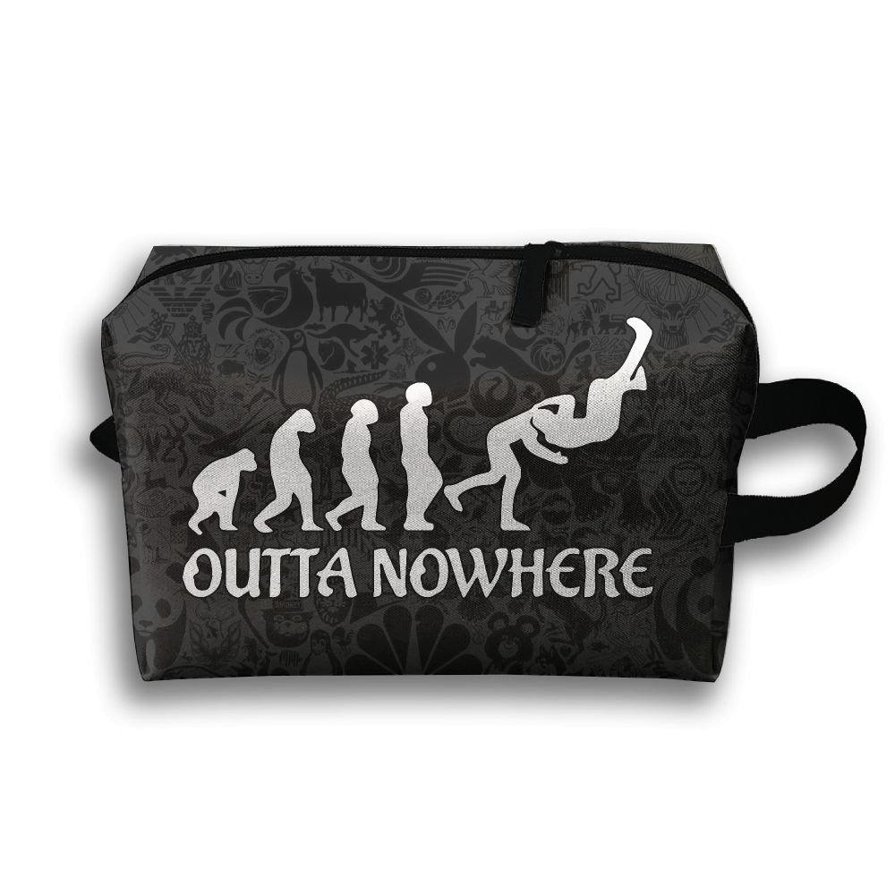 Wrestling Outta No Where Funny Toiletry Travel Bag Shaving Bag Sturdy Hanging Organizer Unisex