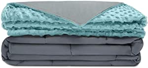 """Quility Premium Adult Weighted Blanket & Removable Cover 
