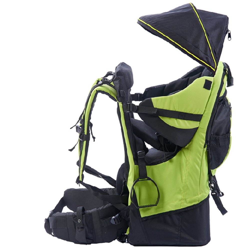 3e76971f342 OLizee Foldable Outdoor Baby Kids Toddler Backpack Carrier with Canopy