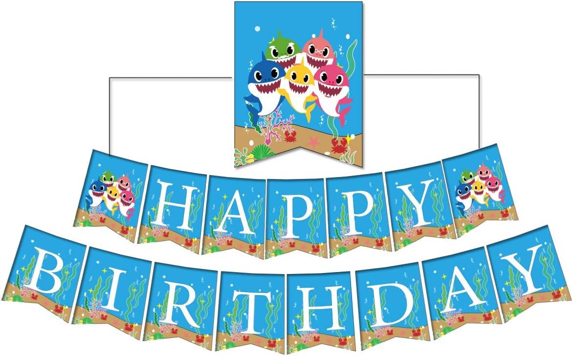 HugeONE Happy Birthday Baby Shark Banner
