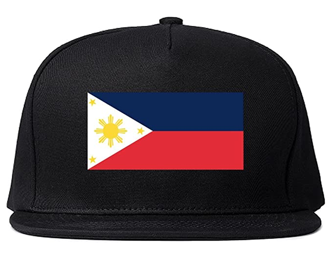 81b2ee03851a83 Philippines Flag Country Printed Snapback Hat Cap Black. Roll over image to  zoom in. Kings Of NY