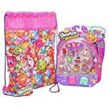 SHOPKINS - SERIES 5 - 12 PACK Bundle - Include12 Shopkins (Characters May Vary) with 2 Petkins Back Pack and 1 Shopkins Soft Drawstring Bag- To Pack and Play