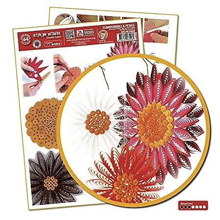 Quilling Template Flowermiddle /& Petals