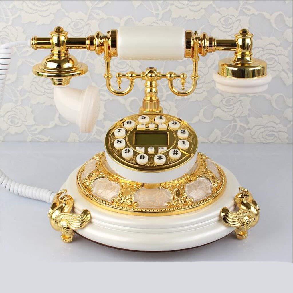 固定電話 ヨーロッパのレトロ電話家ヴィンテージアンティーククリエイティブ固定電話席 固定電話 (色 : A) B07QML9S1W B