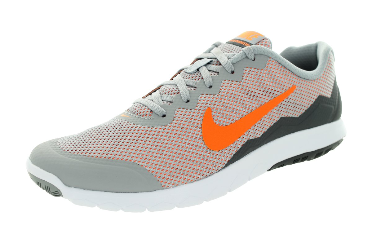 NIKE Men's Flex 2014 RN Running Shoe B00QFMJ986 8.5 D(M) US|Wolf Grey/Dark Grey/White/Total Orange