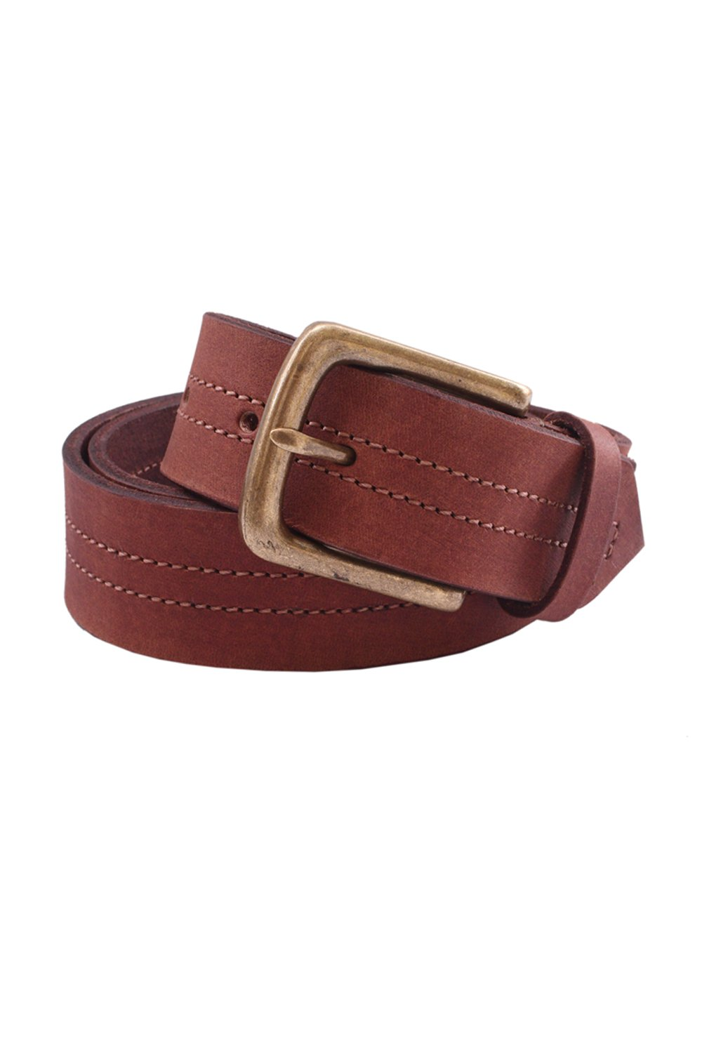 Pacific Gold Tan Genuine Leather 40mm Pin Buckle Casual Belt for Men-Sz: 44