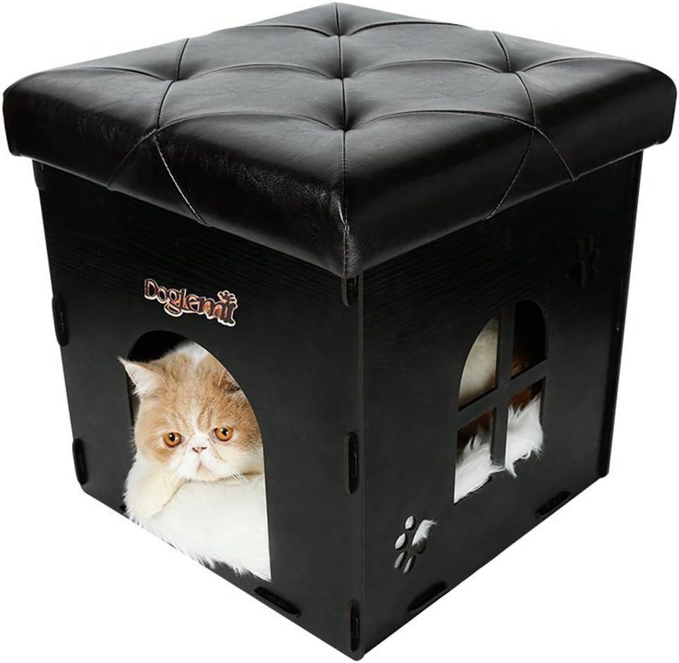 Multi Función almacenar Asiento Taburete plegable Perros caja ...