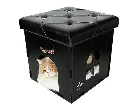 Multi Función almacenar Asiento Taburete plegable Perros caja Animales cueva para gatos perros – Taburete (