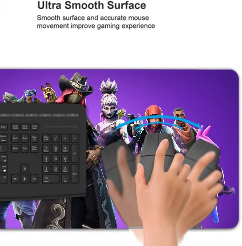 29.5/×15.7 Inch Multipurpose PC Mouse Pad Large Mouse Pad,Battle Royale Characters Gaming Gamer