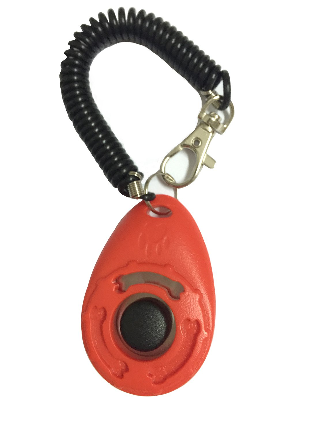 Pet Animals Training Clicker with Rope Wonderful Training Clicker for Training Dog, Puppies, Cats, Birds, Horses, Rabbits and Even Elephant (Red) ShengN