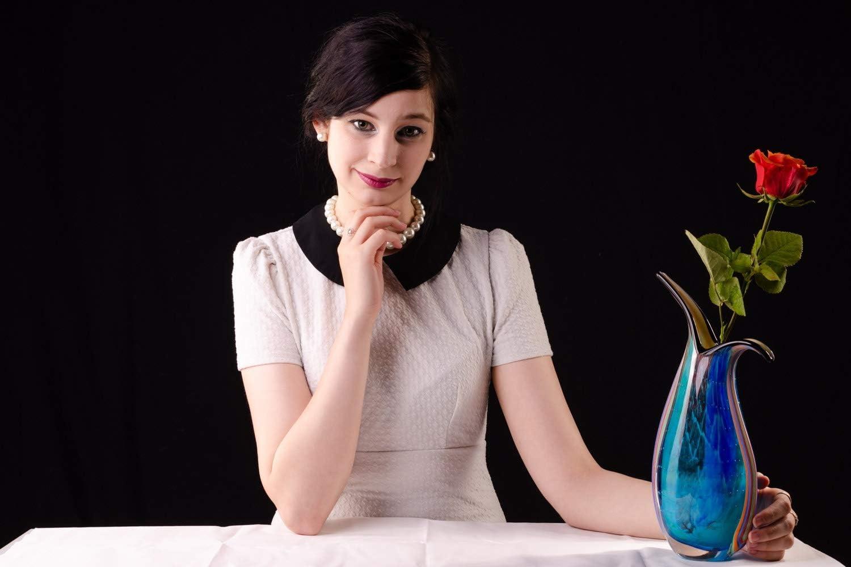 Glasvase Glas Vase im Italien Murano antik Stil H/öhe 30cm 2kg schwere Tischvase