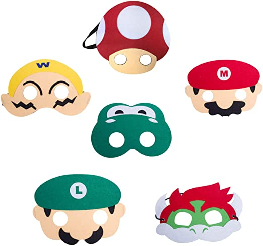 wario CARD FACE MASK MASKS FOR PARTY FUN HALLOWEEN FANCY DRESS UP