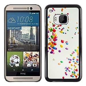 // PHONE CASE GIFT // Duro Estuche protector PC Cáscara Plástico Carcasa Funda Hard Protective Case for HTC One M9 / Globos coloridos /