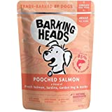 Barking Heads Wet Dog Food - Pooched Salmon - 85% Natural, Free-Run Chicken and Salmon, No Artificial Flavours, Grain-Free Recipe with Optimal Protein and Fat Levels for Senior Dogs (10 x 300 g)