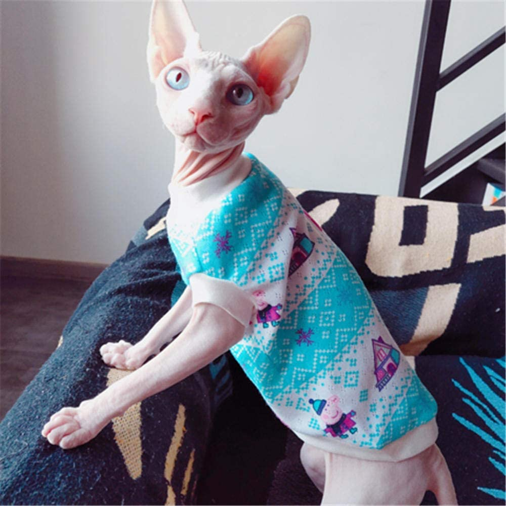 pet supplies kittens blue hairless cat clothes L HCYD Sphinx clothes