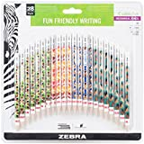 Zebra Cadoozles Mechanical Pencil, 0.9mm Point Size, Standard HB Lead, Assorted Woodlands Barrel Patterns, 28-Count