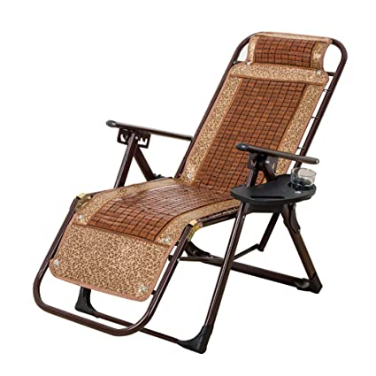 Excellent Amazon Com Recliner Patio Chair With Cup Holder Tray Lamtechconsult Wood Chair Design Ideas Lamtechconsultcom