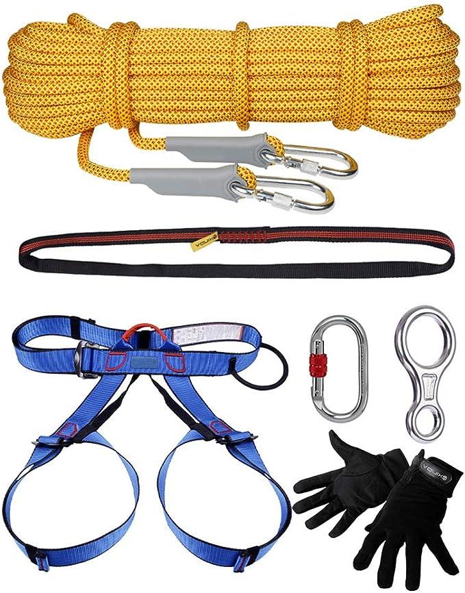 GJF Juego de Cinturones de Seguridad para Cuerda de Escalada ...
