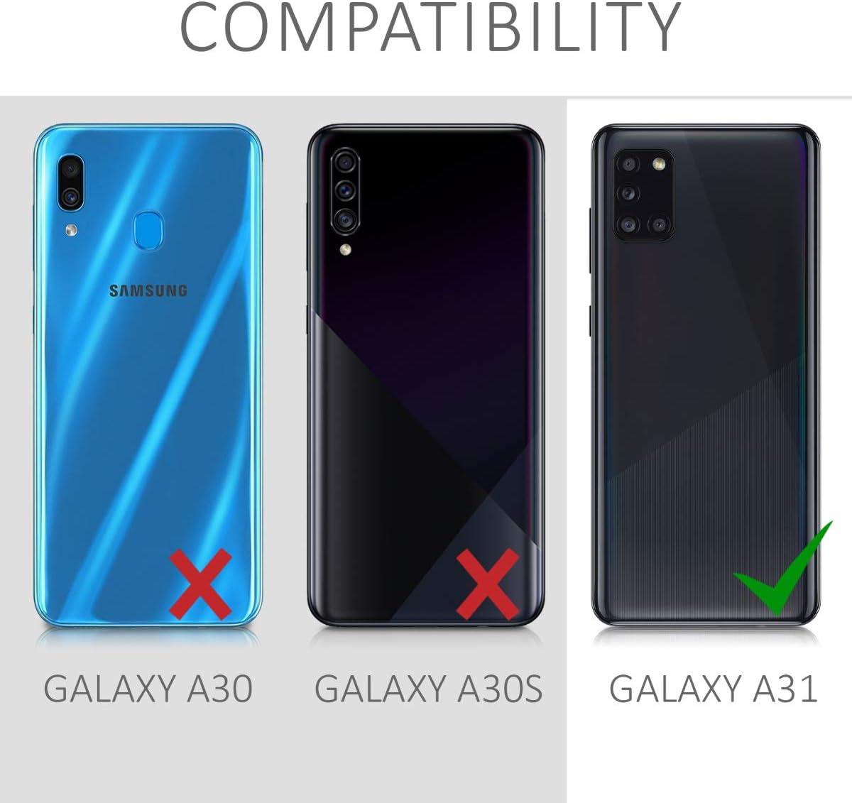 kwmobile Funda Compatible con Samsung Galaxy A31 Carcasa de TPU Silicona Protector Trasero en Amarillo Mate