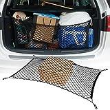Car/SUV Rear Trunk Cargo Net 44.9 x 23.4inch Luggage Mesh organizer Net Holder, Black