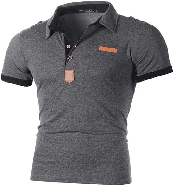 Adelina Polo Camisa Hombre Basic Simple Style Dark Grey Ropa Men ...