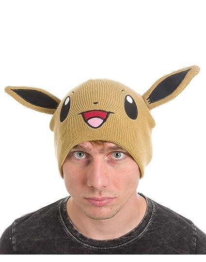 06d5d44f3 Amazon.com: Pokemon Beanie Hat Eevee Official Brown Nintendo: Sports ...