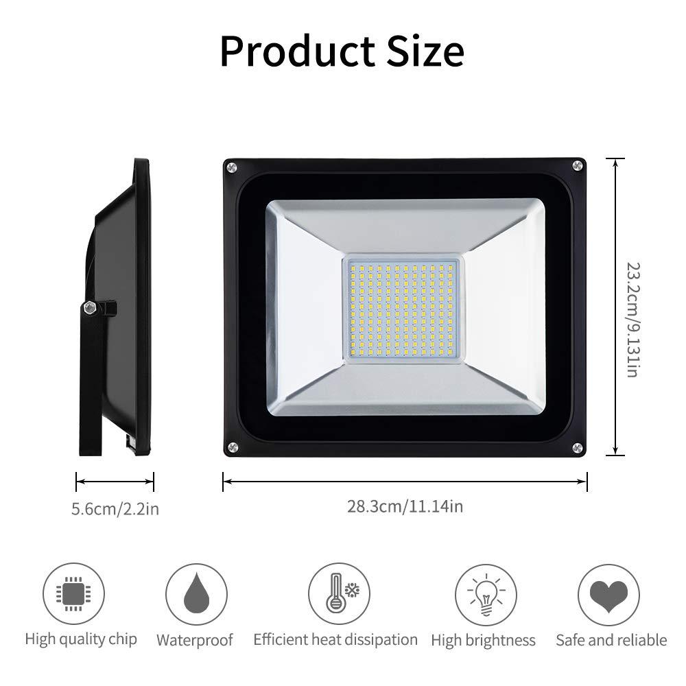 Faretto LED da Esterno 100W 10000LM Bianco Caldo 3000K Proiettore Faro LED da Esterno Impermeabile IP65 Luce Illuminazione Interna ed Esterna per Giardino Casa Classe di efficienza energetica A+