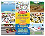 Melissa and Doug Vehicles Reusable Sticker Pad, Baby & Kids Zone