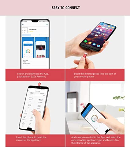 R02 Type-C Smartphone IR Remote Controller Adapter for Android Smart Phone  Mini Infrared Universal Control All in One Air Conditioner/TV/DVD/STB (Red)