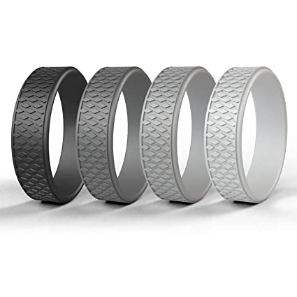 Rubber Rings For Men >> Amazon Com Egnaro Silicone Wedding Ring Rubber Rings Premium
