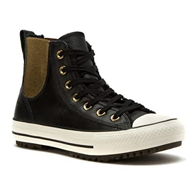 Converse Women's Chuck Taylor All Star Chelsee Boot Leather & Fur  Black/Black/Egret