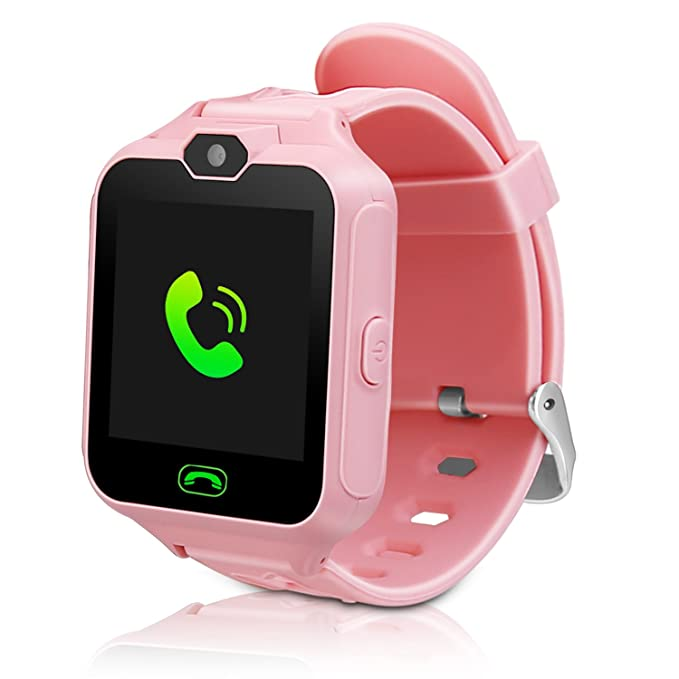 Kids Smart Watch Child Phone Watch Mini Digital Camera with 1.44 Touch Screen Music Player SOS Birthday Gifts for Girls Boys(Pink)