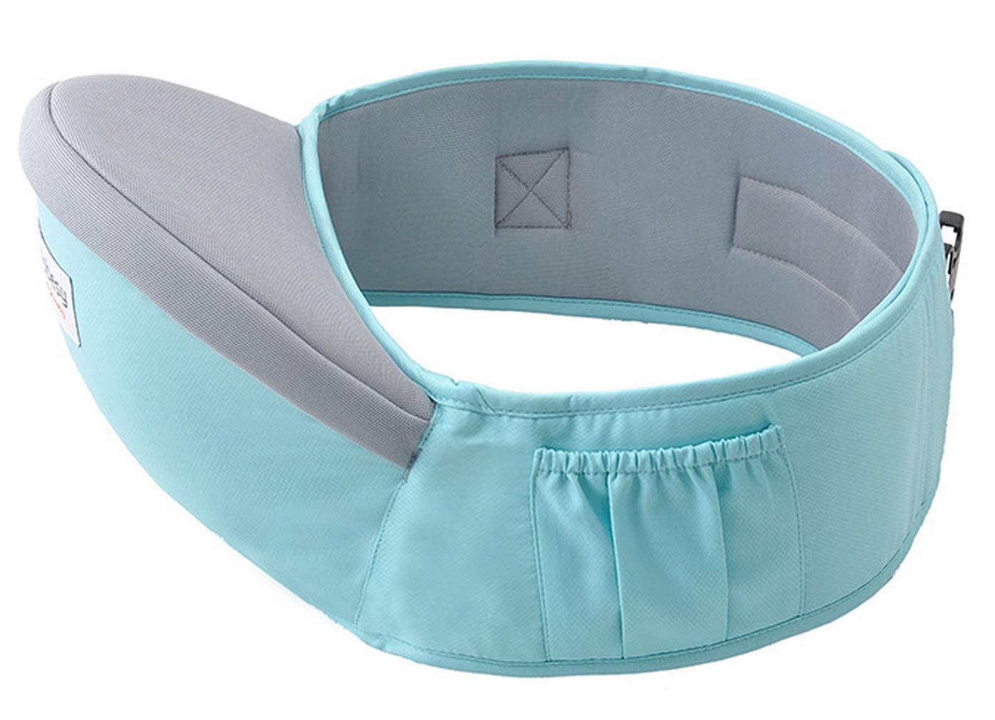 DEMU Babytrage Taille Hocker Sitzträ ger Baby Hipseat Waist Stool Belt (Blau)