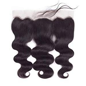 13 x4 Lace Frontal Closure Body Wave,Unprocessed Brazilian Virgin Remy Hair Ear To Ear Lace Frontal With Baby Hair Natural Color Knots Can Be Bleached (8 inch)