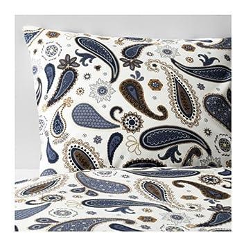 Ikea Sotblomster Blanc Et Bleu Avec Housse De Couette Et 2