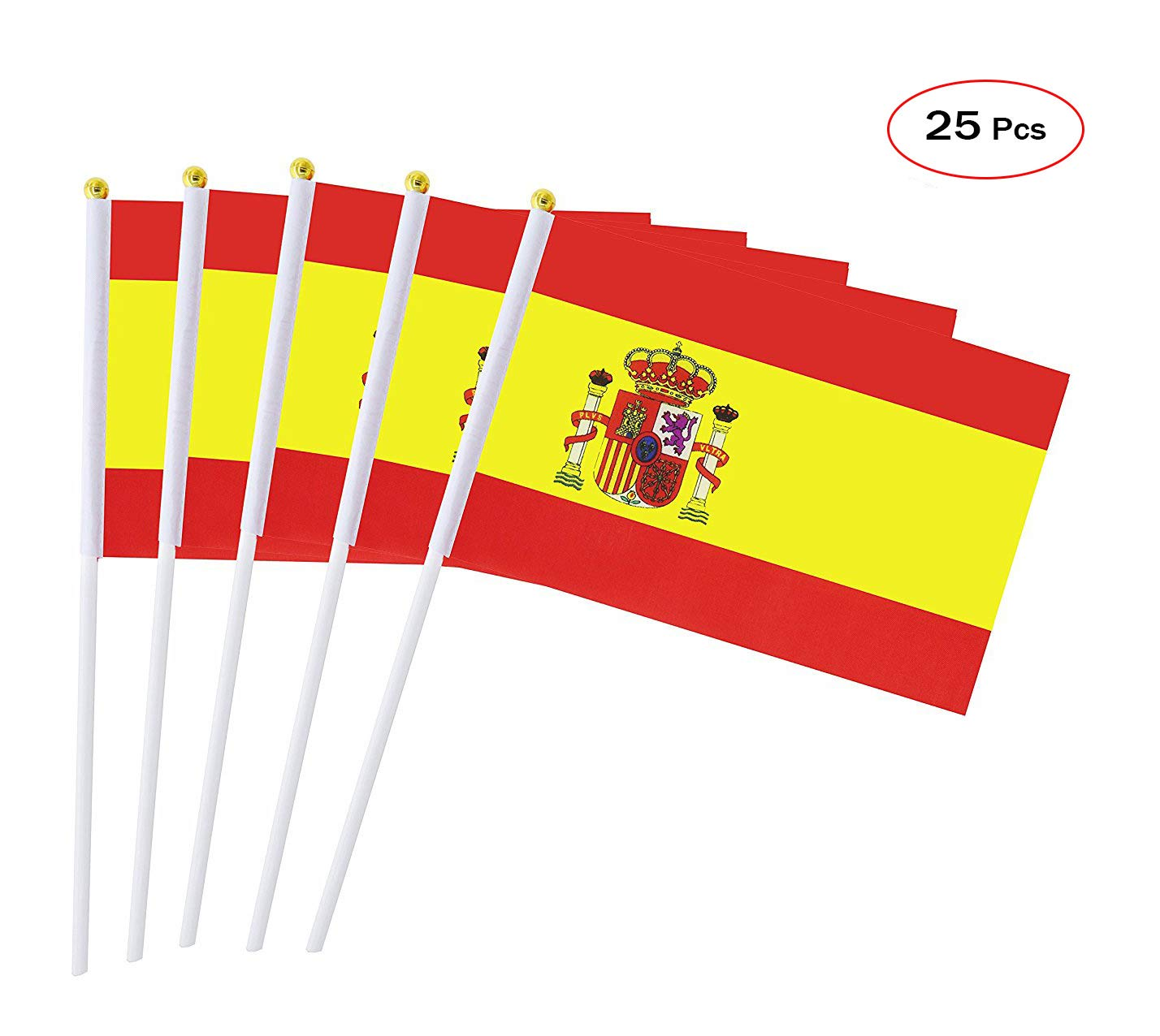 Mattelsen Drapeau de Baton 25 Pcs Hand Held Petit Drapeau 14cm*21cm International Monde Drapeaux pour Fan de Football